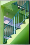 Hotel Staircase (vertical), Rockley Beach, Barbados Fine-Art Print