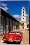 Old worn 1958 Classic Chevy, Trinidad, Cuba Fine-Art Print