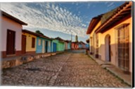 Early morning view of streets in Trinidad, Cuba Fine-Art Print