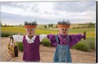 Scarecrows at a lavendar farm in SE Washington Fine-Art Print