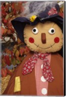 Stuffed Scarecrow on Display at Halloween, Washington Fine-Art Print