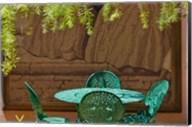 Cast iron table and chair in the garden, Havana, Cuba Fine-Art Print