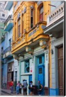 Old house in the historic center, Havana, UNESCO World Heritage site, Cuba Fine-Art Print