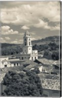 Cuba, Sancti Spiritus, Trinidad, town view (black and white) Fine-Art Print