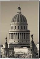 Cuba, Havana, Capitol Building, dawn Fine-Art Print