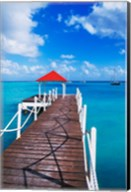 Dock in St Francois, Guadeloupe, Puerto Rico Fine-Art Print