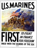 US Marines First Fine-Art Print