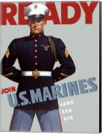 Marine Corps Recruiting Poster from World War II Fine-Art Print