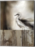 Sea Mist & the Egret Fine-Art Print