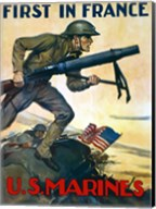 First in France - U.S. Marines Fine-Art Print