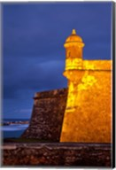 El Morro Fort lit up, Old San Juan, Puerto Rico Fine-Art Print