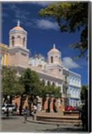 Puerto Rico, San Juan Plaza in Old San Juan Fine-Art Print