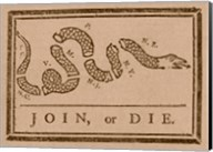 Join or Die Created by Benjamin Franklin Fine-Art Print