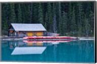 Canoe rental house on Lake Louise, Banff National Park, Alberta, Canada Fine-Art Print