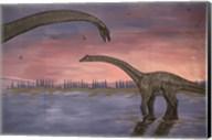 Town Dinosaur Mural, Drumheller, Alberta, Canada Fine-Art Print