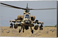 AH-64A Peten attack helicopter Fine-Art Print