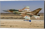 An F-16I Sufa of the Israeli Air Force taking off from Ramon Air Base Fine-Art Print