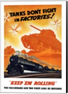 Tanks Don't fight in Factories! Fine-Art Print