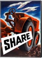 Share (tractor) Fine-Art Print