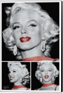 Marilyn - Red Lips Trio Fine-Art Print
