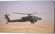 AH-64D Apache Helicopter on a Mission Fine-Art Print