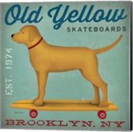 Golden Dog on Skateboard Fine-Art Print