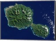 Satellite View of Tahiti Fine-Art Print