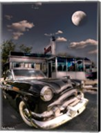 1953 Packard Clipper and Old Diner Fine-Art Print