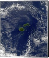 Satellite view of Vanua Levu, the Second Largest Island of Fiji Fine-Art Print