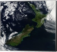 Satellite view of New Zealand Fine-Art Print