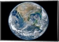 A Blue Marble image of Earth showing North America Fine-Art Print