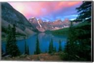 Lake Moraine at Dawn, Banff National Park, Alberta Fine-Art Print