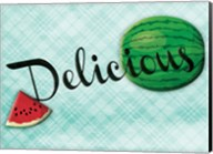 Delicious Watermelons - Blue Fine-Art Print