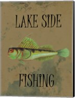 Lake Side Fishing Fine-Art Print