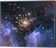 Starburst Cluster Shows Celestial Fireworks Fine-Art Print