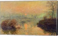 Sun Setting over the Seine at Lavacourt. Winter Effect, 1880 Fine-Art Print