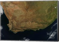 Satellite view of South Africa Fine-Art Print