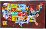 USA Map I Fine-Art Print