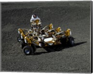Spacesuit Engineer Drives NASA's New Lunar Truck Prototype Fine-Art Print