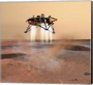 Phoenix Mars Lander Arriving on Mars Fine-Art Print