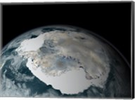 The Frozen Continent of Antarctica and its Surrounding Sea Ice Fine-Art Print