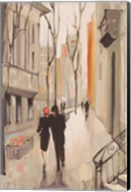 Village Promenade Neutral Fine-Art Print