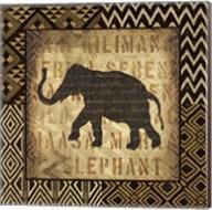 African Wild Elephant Border Fine-Art Print