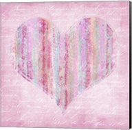 Striped Pink Heart Fine-Art Print