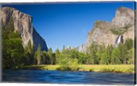 Valley view with El Capitan, Cathedral Rocks, Bridalveil Falls, and Merced River Yosemite NP, CA Fine-Art Print