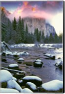 Winter snow, Merced River Fine-Art Print