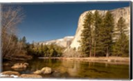 El Capitan towers over Merced River, Yosemite, California Fine-Art Print