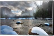 Merced River, El Capitan in background, Yosemite, California Fine-Art Print
