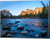 Rocks in The Merced River in the Yosemite Valley Fine-Art Print