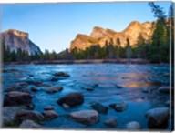 Rocks in The Merced River in the Yosemite Valley Fine-Art Print
